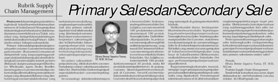 Primary Sales dan Secondary Sales