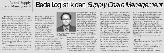 Logistic VS Supply Chain Management