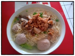 Noodle with meat ball