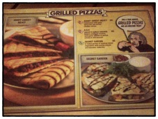 Grilled Pizzas Menu