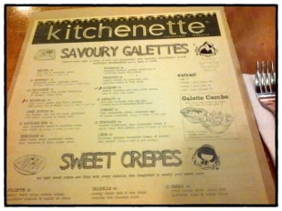 Kitchenette Menu