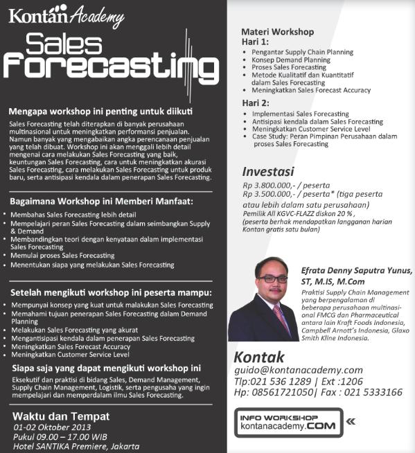 Sales Forecasting Workshop