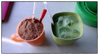 Milo Dinosaur and Ice Milk Green Tea