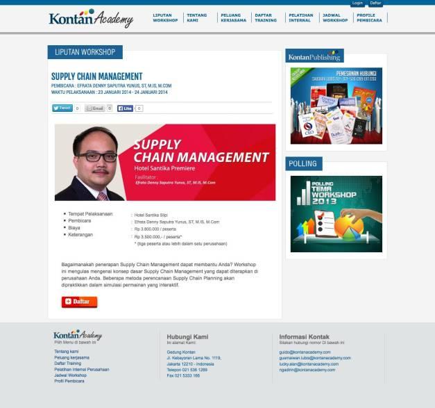 Supply Chain Management Workshop 2014