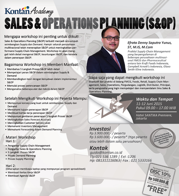 Sales and Operations Planning Workshop